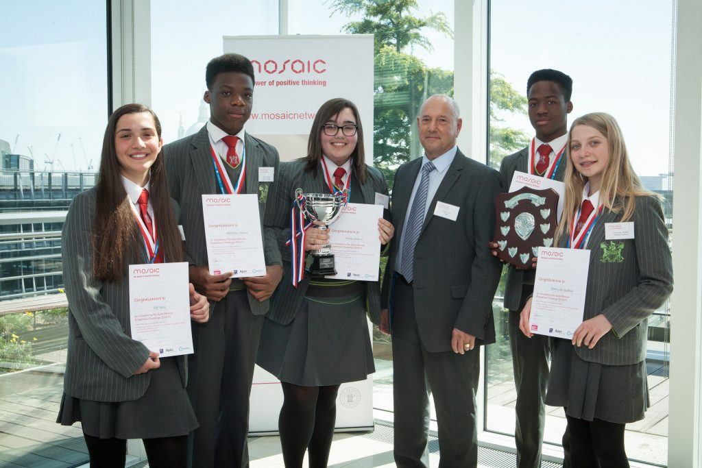 Agnieska (far right) with her 2015 Enterprise Challenge winning team iRoundUp