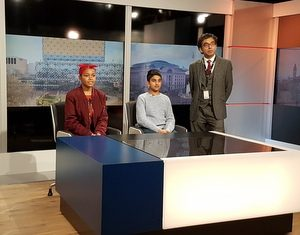 Pupils make headlines with visit to ITV Studios