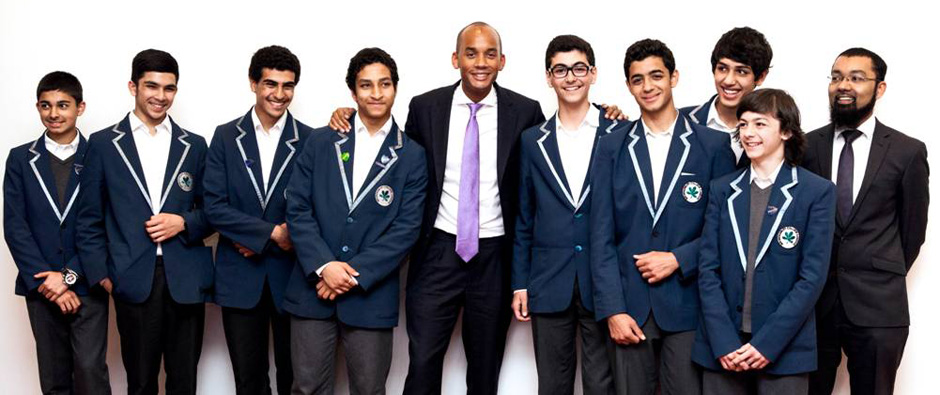 Chuka Umunna MP with students