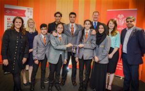 Dixons Kings Academy win the 2017 Enterprise Challenge Yorkshire Regional Final