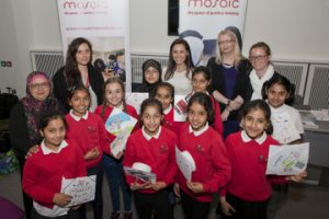 Rachael and pupils from Oswald Road Primary School