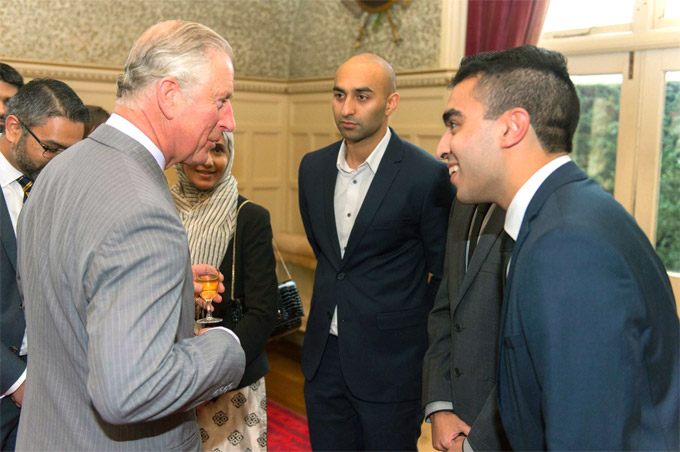 Saif Rehan with HRH The Prince of Wales
