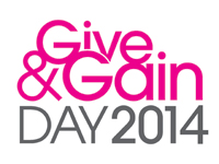 Give and Gain Day 2014 logo