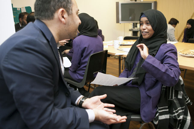 Mosaic mentor and student in the West Midlands