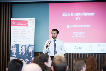 Zishan Nurmohamed is the Executive Director at EY London and sits on Mosaic's London board.