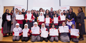 Primary school graduates at last year's West Midlands Mosaic graduation ceremony.